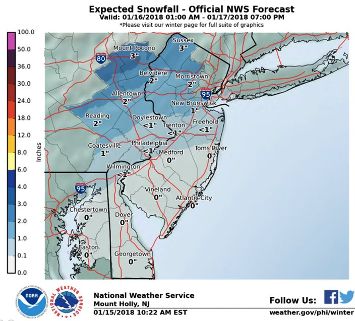 Snowy commute possible Wednesday morning