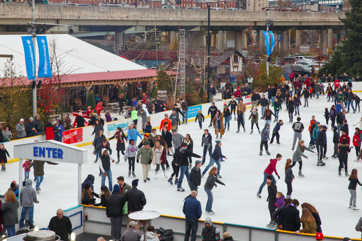 Ice skating at Winterfest