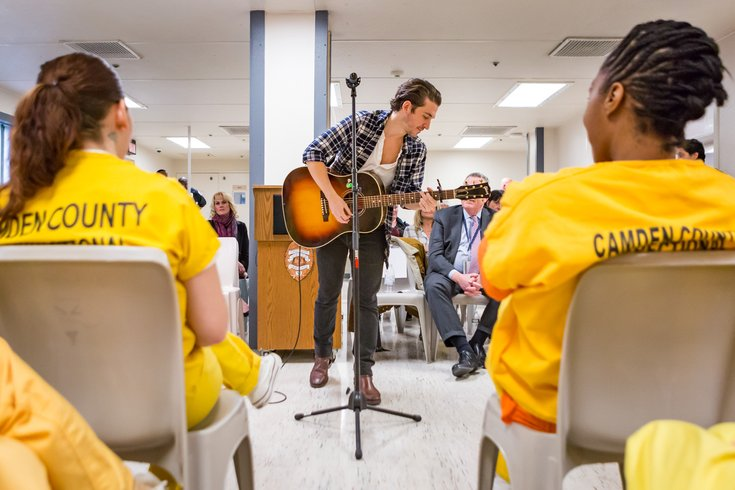 Carroll - Matt Butler performs at the Camden County Correctional facility