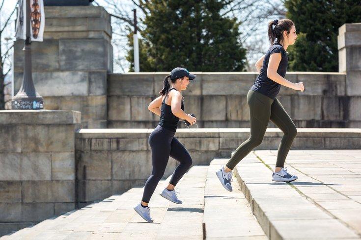 Stock_Carroll - Exercising on the steps of the Philadelphia Museum of Art
