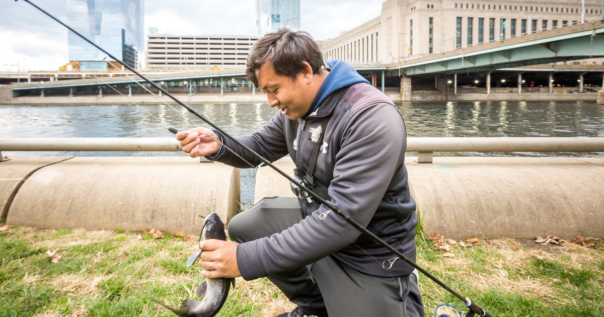 Philly man turns 39 extreme 39 love of fishing into youtube for Extreme philly fishing