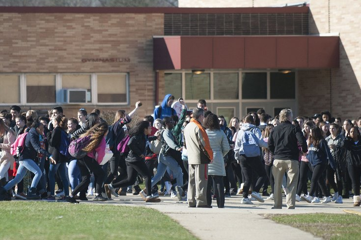 NJ students walk out to protest teacher's suspension over school safety comments