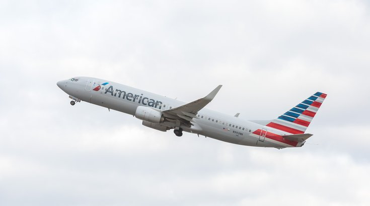 Stock_Carroll - American Airlines plane at the Philadelphia International Airport