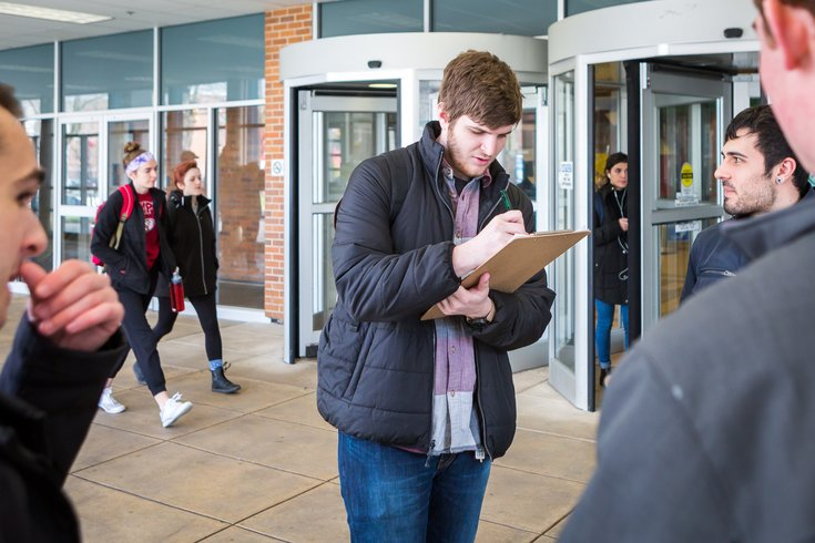 Carroll - Temple University students register to vote