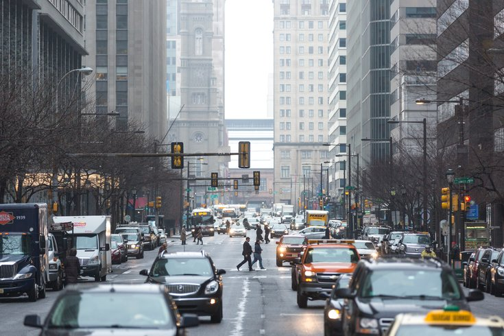 Stock_Carroll  - Pedestrians and vehicles in Center City