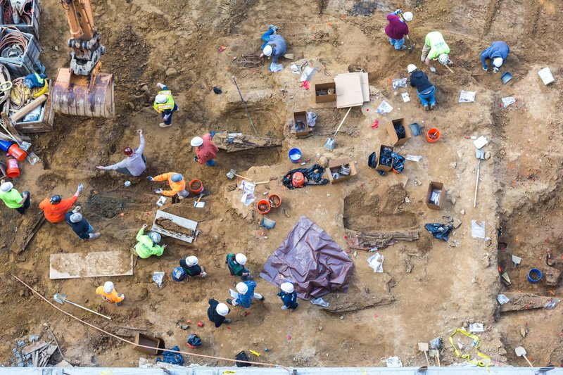 Dozens of historic human remains unearthed in Old City, Philadelphia