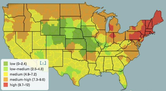 Nine Uncommon Ways To Survive Allergy Season PhillyVoice - Us pollen map