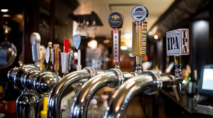 Stock_Carroll - Beer taps at Fado Irish Pub
