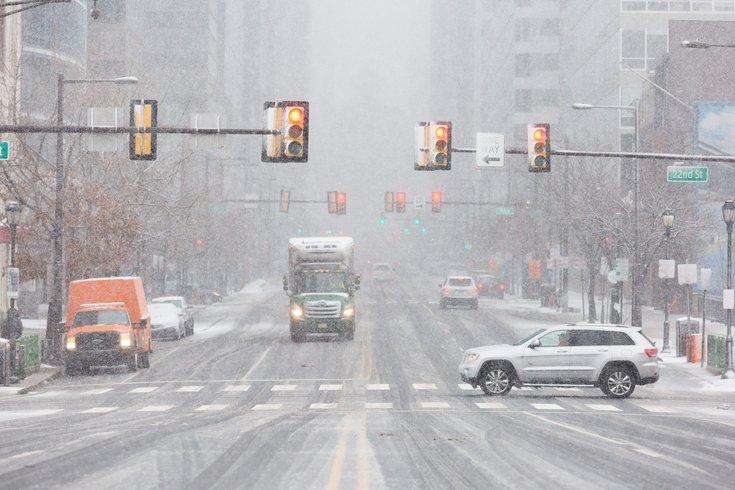 Carroll - Snow accumulates on Market Street
