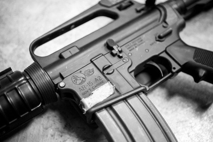 Stock_Carroll - An AR-15 semi-automatic rifle