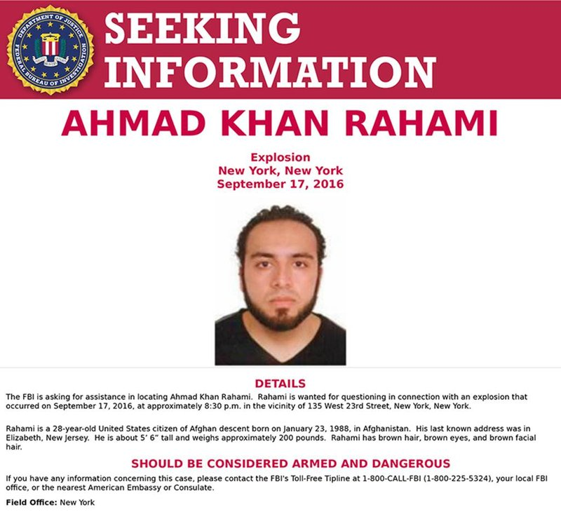 New York Police looking for an Afghan, five more explosives found