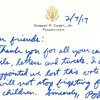 Sen. Bob Casey Thank You letter
