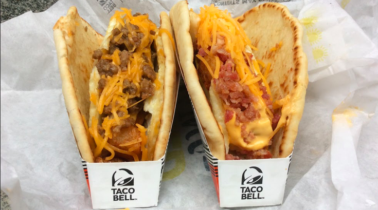 Taco Bell's Naked and Dressed Egg Tacos