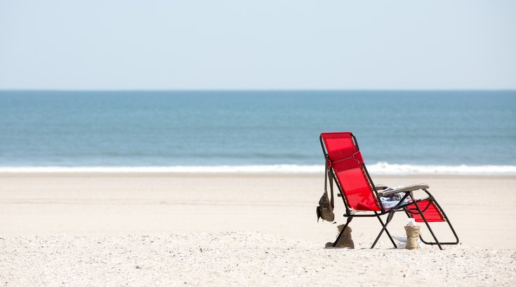 Carroll - Beach chair at the Jersey Shore