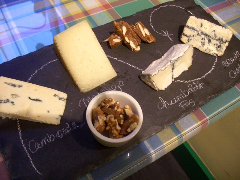 Cheese and nuts ready to eat at Wedge + Fig in Old City. Wedge + Fig ...