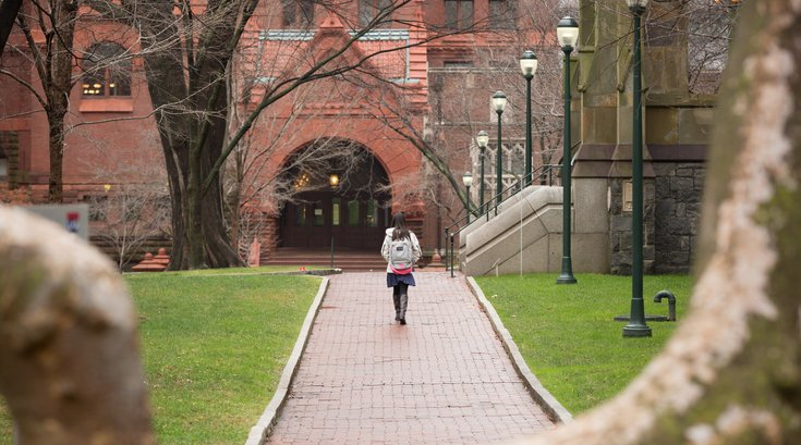 Carroll - Student on campus of University of Pennsylvania