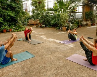 Yoga at Fairmount's Horticulture Center this winter