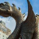 The Drexel Dragon on Drexel University's campus in Philadelphia.