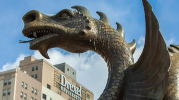 The Drexel Dragon on Drexel University's campus in Philadelphia.