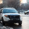 Stock_Carroll - A Philadelphia police SUV in Bike Lane