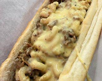 Mac and Cheese Cheesesteak