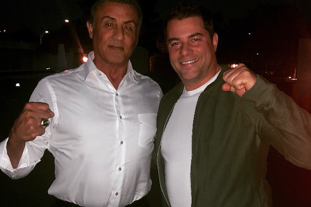 Michael Finuoli and Sylvester Stallone