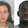 Hayat Boumeddiene (L) and Amedy Coulibaly, sought in the shooting death of a female police officer in Montrouge, near Paris.