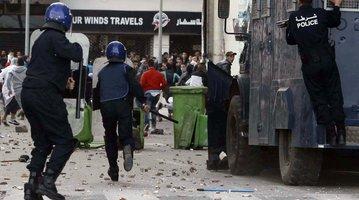 Demonstrators in Algeria.