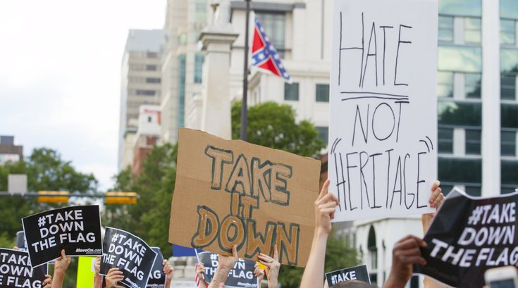 Confederate flag protests