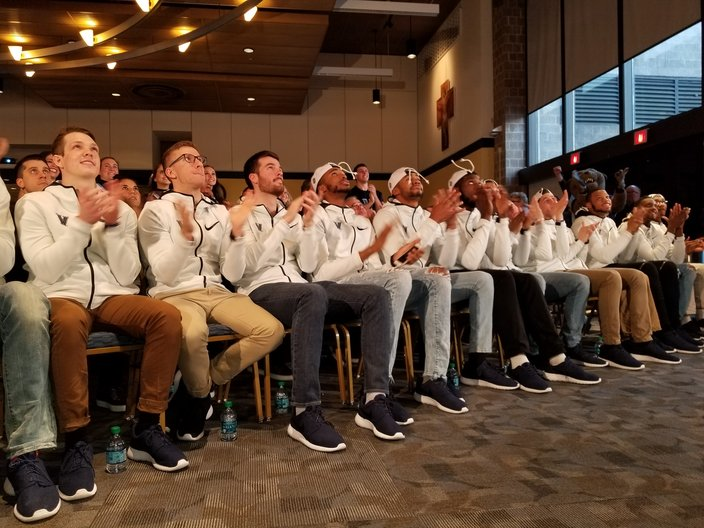 Joe Santoliquito  For PhillyVoiceVillanova players react as their seeding is unveiled on Selection Sunday