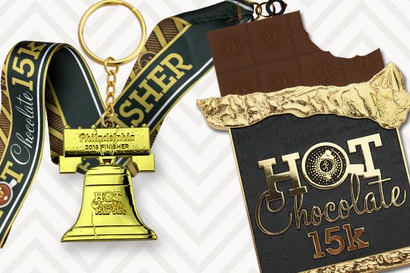 2018 Hot Chocolate 15K medal
