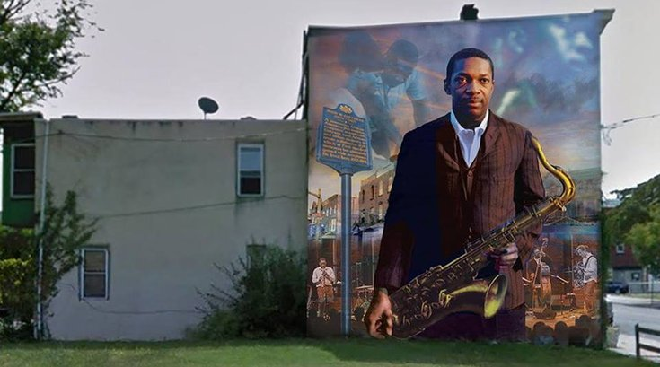 john coltrane jazz mural