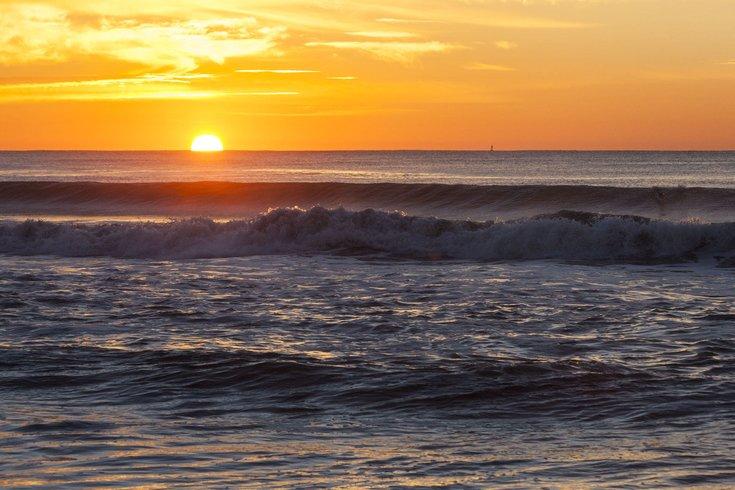 Sunrise over ocean morning