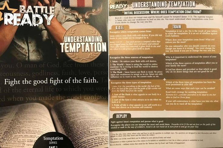 Gay couple sent 'sin' pamphlets instead of wedding programs