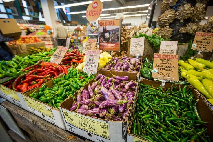 Produce at the market