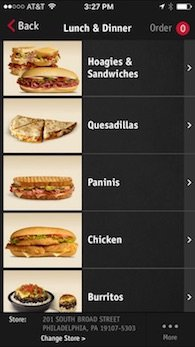 a description of ordering a hoagie at wawa using the touch screen I kept wondering, what's with all the fuss about wawa  famous hand-made  hoagies, you must go to an ordering touchscreen and place your order  i would  more accurately describe a wawa as a fast-food restaurant that.