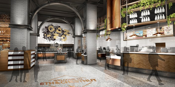 wawa 6th and Chestnut old city rendering 2