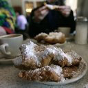 A plate of beignets, a signature menu item in New Orleans.