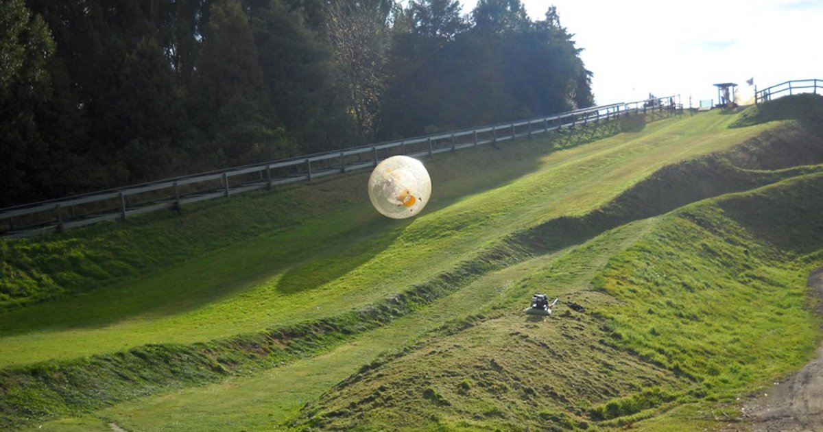 feel like rolling down a hill in a giant ball  try zorbing