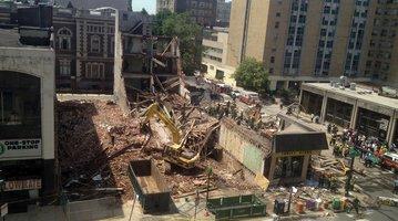 center city building collapse