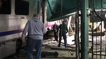 Train Crashes into New Jersey station; more than 100 injured