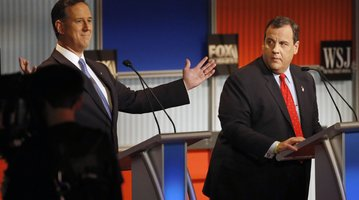 Christie Santorum Debate
