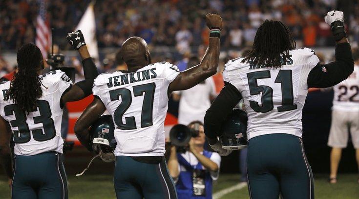 Jenkins protest Eagles
