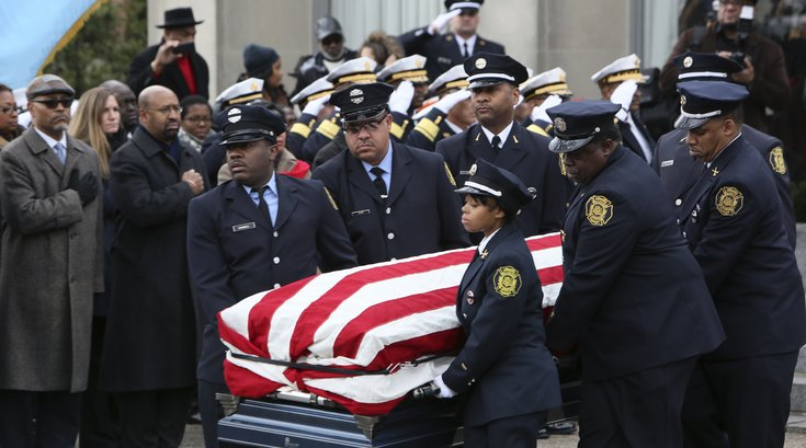 A memorial for Philadelphia first fallen female firefighter, Joyce Craig, was held Monday.