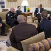 Obama meets with police