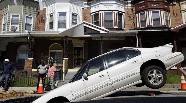 Car Philadelphia sinkhole