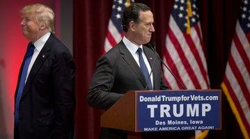 Trump Santorum
