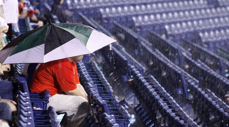Phillies fan umbrella