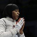 Ibtihaj Muhammad fencing hijab