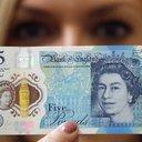 England 5 pound note vegan